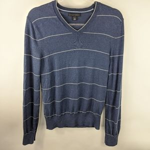 Banana Republic Striped Silk Cashmere Sweater